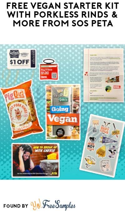 FREE Vegan Starter Kit with Porkless Rinds & More from SOS PETA