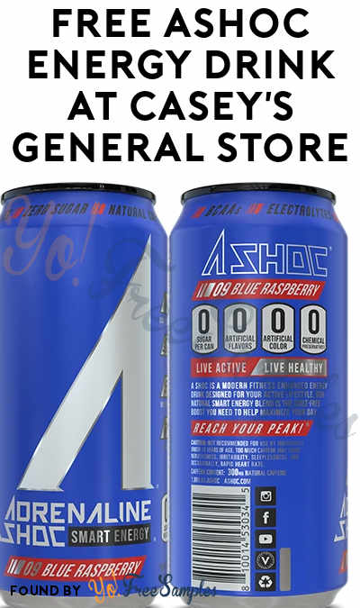 FREE ASHOC Energy Drink At Casey's General Store (Select Areas / Mobile App Required)