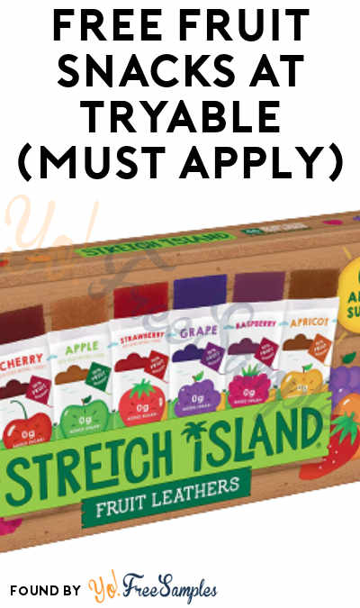 FREE Fruit Snacks At Tryable (Must Apply)
