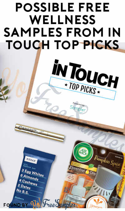 Possible FREE Wellness Samples From In Touch Top Picks (Valid Phone Number Required)