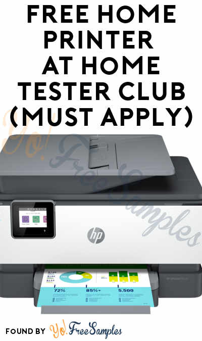 FREE Home Printer At Home Tester Club (Must Apply)