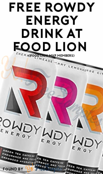 FREE Rowdy Energy Drink At Food Lion (Food Lion MVP Members)
