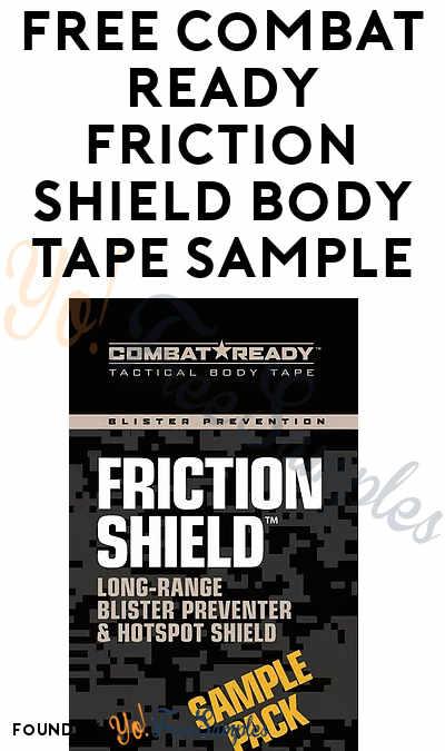FREE Combat Ready Friction Shield Body Tape Sample