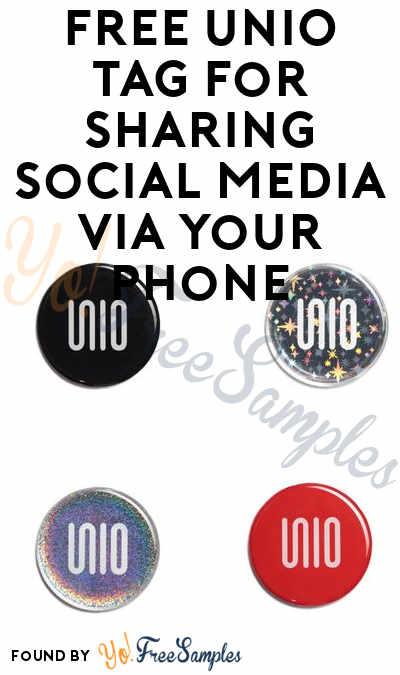 FREE UNIO Tag For Sharing Social Media via Your Phone