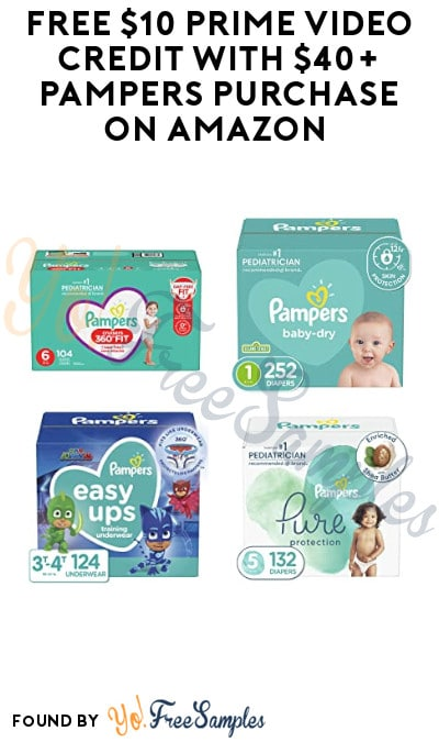 FREE $10 Prime Video Credit with $40+ Pampers Purchase on Amazon