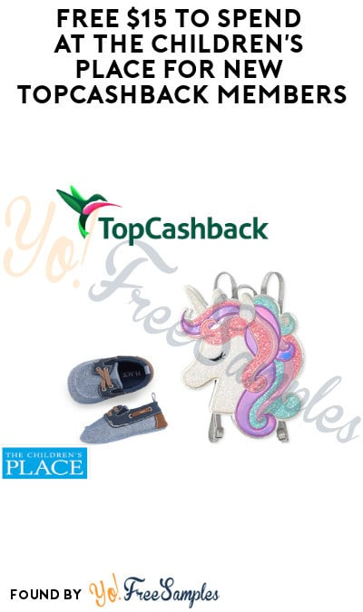 FREE $15 to Spend at The Children's Place for New TopCashback Members