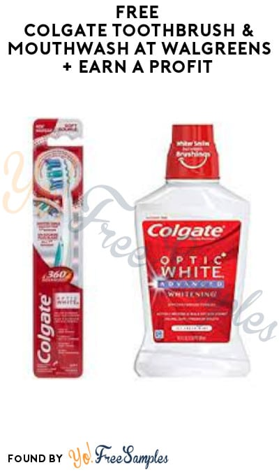 FREE Colgate Toothbrush & Mouthwash at Walgreens + Earn A Profit (Rewards Card Required)