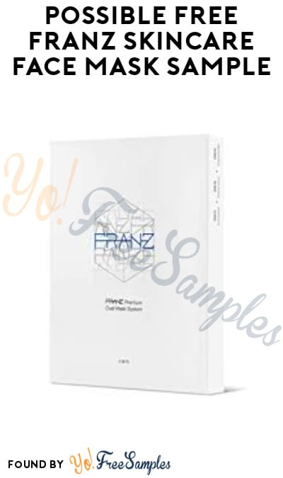 Possible FREE Franz Skincare Face Mask Sample (Facebook Required)