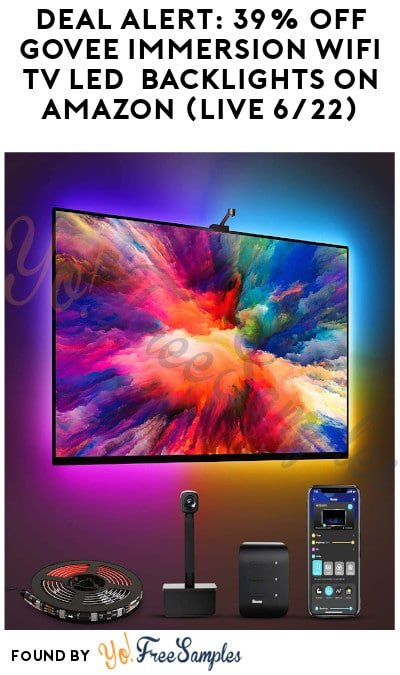 DEAL ALERT: 39% Off Govee Immersion WiFi TV LED Backlights on Amazon