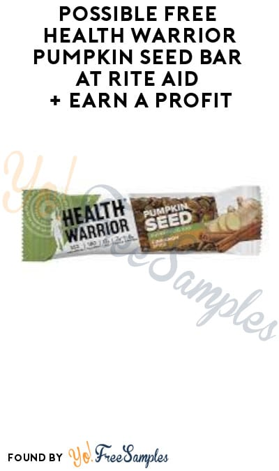 Possible FREE Health Warrior Pumpkin Seed Bar at Rite Aid + Earn A Profit (Ibotta Required)