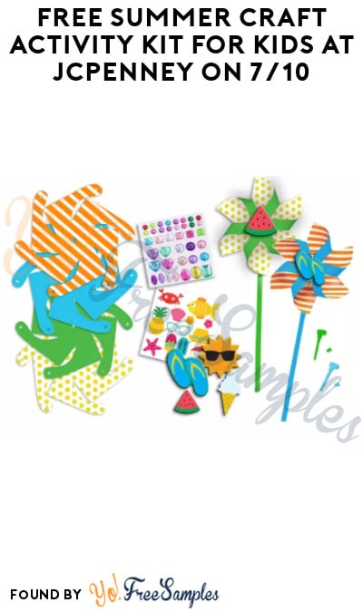 FREE Summer Craft Activity Kit for Kids at JCPenney on 7/10