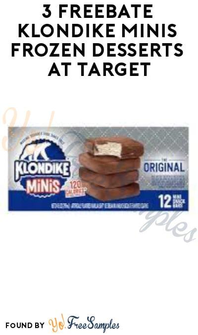 3 FREEBATE Klondike Minis Frozen Desserts at Target (Fetch Rewards Required)