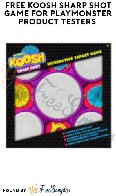 FREE Koosh Sharp Shot Game for PlayMonster Product Testers (Must Apply)