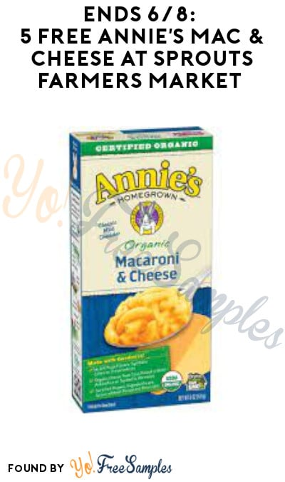 Ends 6/8: 5 FREE Annie's Mac & Cheese at Sprouts Farmers Market (App/ Coupon Required)
