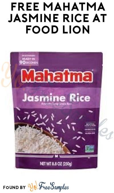 FREE Mahatma Jasmine Rice at Food Lion (Food Lion MVP Members/ Coupon Required)