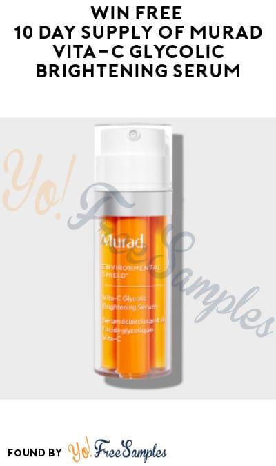 Possible FREE 10-Day Supply of Murad Vita-C Glycolic Brightening Serum (Instagram Required)