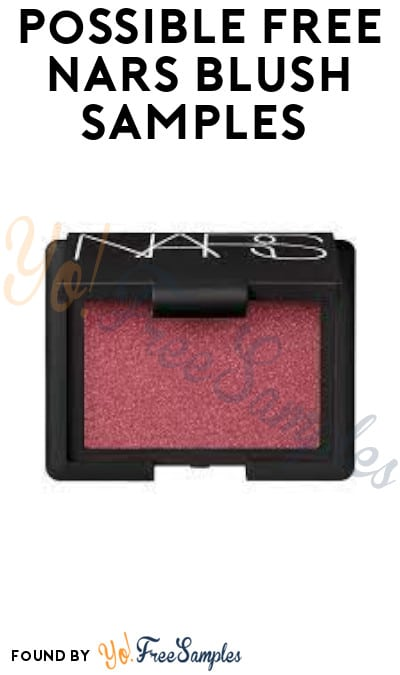 Possible FREE NARS Blush Samples (Facebook Required)