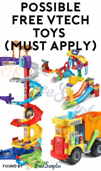Possible FREE Vtech Toys (Must Apply)