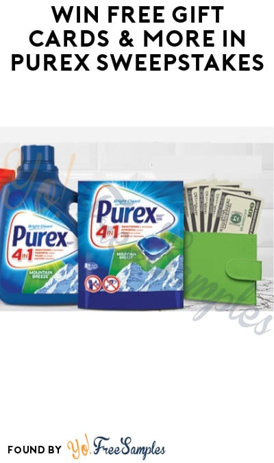 Win FREE Gift Cards & More in Purex Sweepstakes