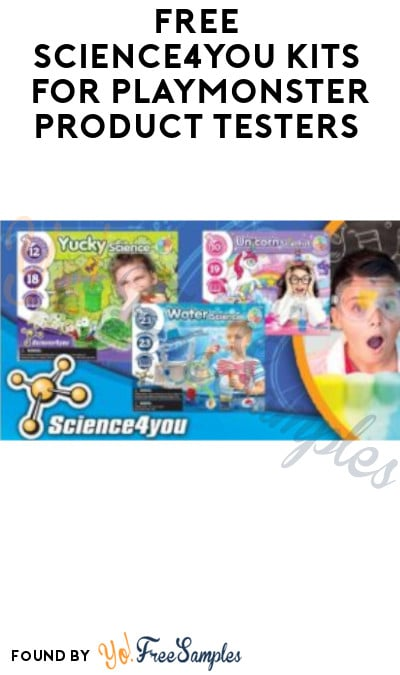FREE Science4You Kits for PlayMonster Product Testers (Must Apply)