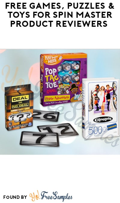 FREE Games, Puzzles & Toys for Spin Master Product Reviewers (Must Apply)