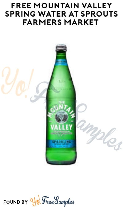 FREE Mountain Valley Spring Water at Sprouts Farmers Market (App/ Coupon Required)