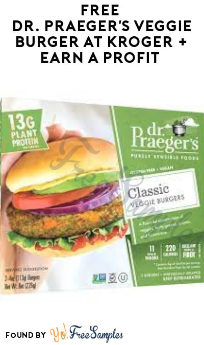 FREE Dr. Praeger's Veggie Burger at Kroger + Earn A Profit (Coupon Required)