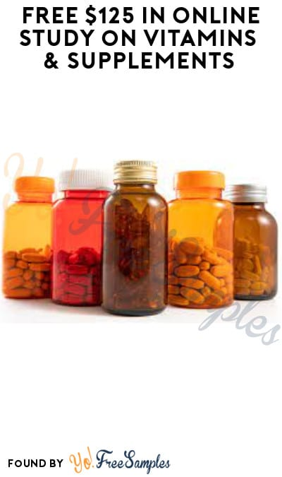 FREE $125 in Online Study on Vitamins & Supplements (Must Apply)