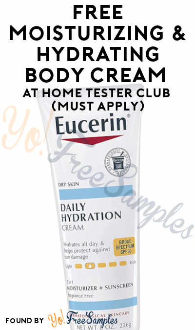 FREE Moisturizing & Hydrating Body Cream At Home Tester Club (Must Apply)