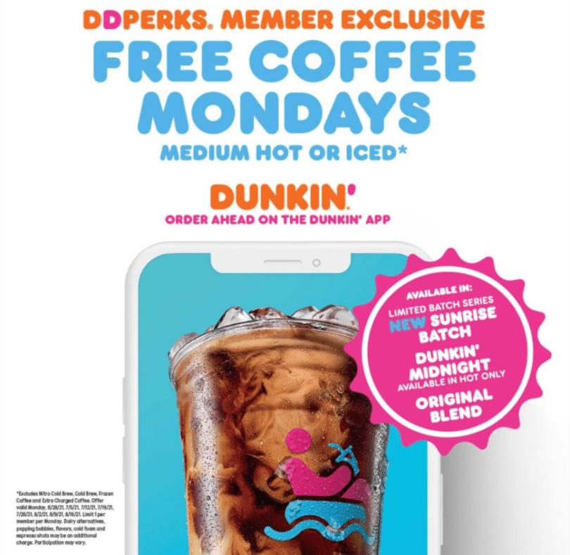 Dunkin Coffee Offer