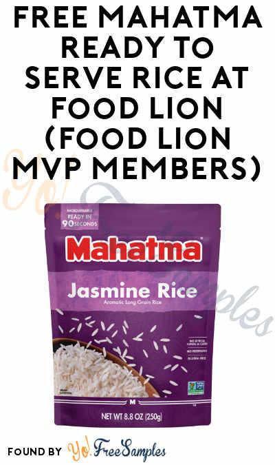 FREE Mahatma Ready to Serve Rice at Food Lion (Food Lion MVP Members)