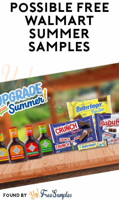 Possible FREE Walmart Summer Samples (Valid Phone Number Required)