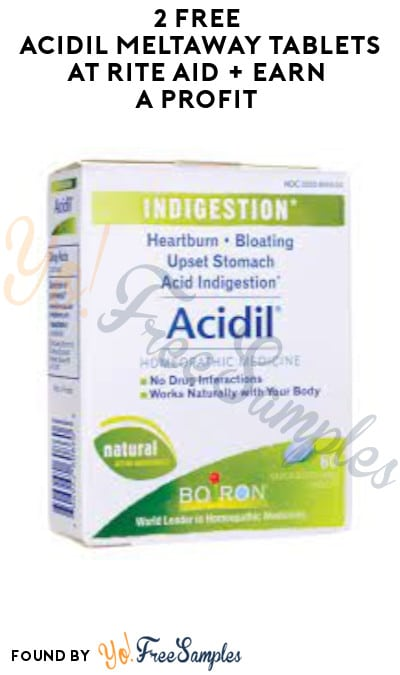 2 FREE Acidil Meltaway Tablets at Rite Aid + Earn A Profit (Account, Coupon & Ibotta Required)