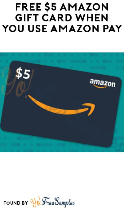 FREE $5 Amazon Gift Card When You Use Amazon Pay