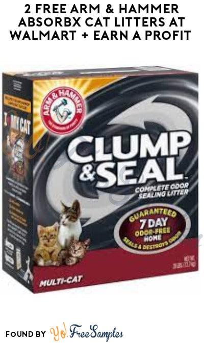 2 FREE Arm & Hammer AbsorbX Cat Litters at Walmart + Earn A Profit (Swagbucks Required)