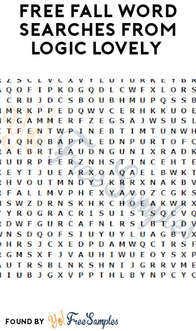 FREE Fall/ Autumn Word Searches from Logic Lovely