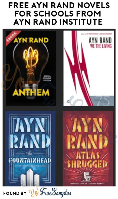 FREE Ayn Rand Novels for Schools from Ayn Rand Institute (Schools/ Educators Only)