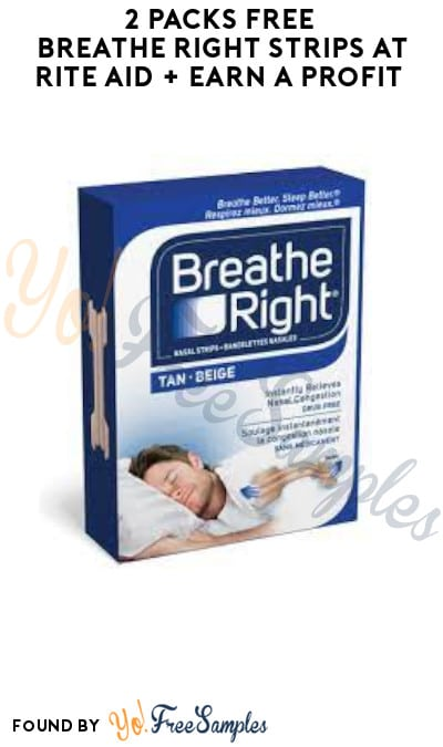 2 FREE Breathe Right Strips at Rite Aid + Earn A Profit (Account, Coupon & Ibotta Required)
