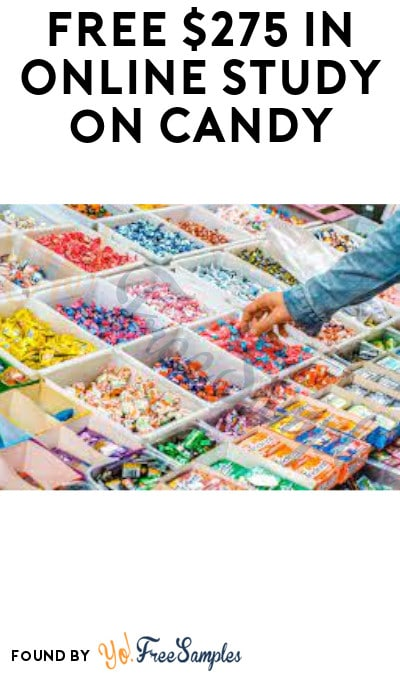 FREE $275 in Online Study on Candy (Must Apply)