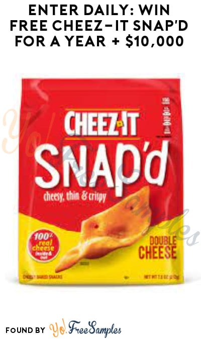 Enter Daily: Win FREE Cheez-It Snap'd for A Year + $10,000 (Instagram or Facebook Required)