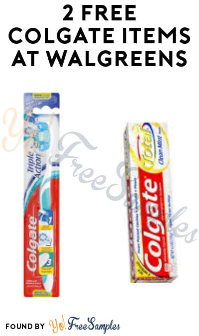 2 FREE Colgate Items at Walgreens (Rewards/ Coupon Required)