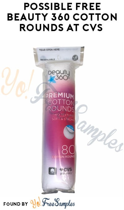 Possible FREE Beauty 360 Cotton Rounds at CVS (Coupon Required)
