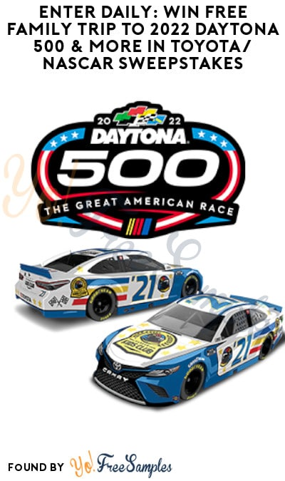 Enter Daily: Win FREE Family Trip to 2022 Daytona 500 & More in Toyota/ NASCAR Sweepstakes
