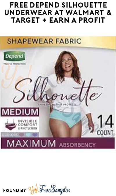 FREE Depend Silhouette Underwear at Walmart & Target + Earn A Profit (Coupon, Ibotta & Fetch Rewards Required)