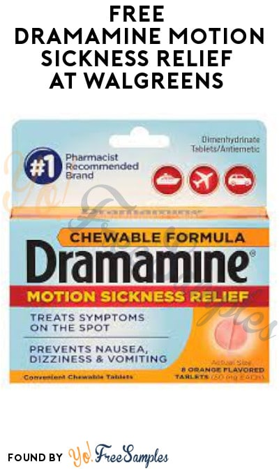 FREE Dramamine Motion Sickness Relief at Walgreens (Account/ Coupon & Ibotta Required)