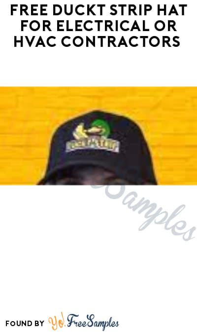 FREE Duckt Strip Hat for Electrical or HVAC Contractors (Company Name Required)