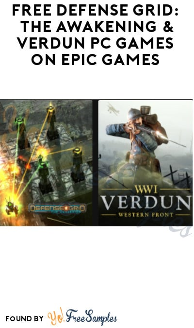 FREE Defense Grid: The Awakening & Verdun PC Games on Epic Games (Account Required)