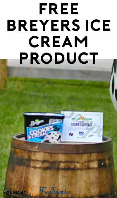 FREE Breyers Ice Cream From The Cookie Coverage Program
