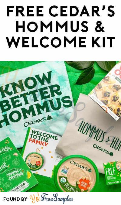 FREE Cedar's Hommus & Welcome Kit