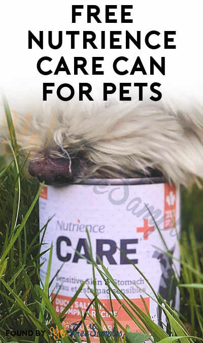 FREE Nutrience Care Can For Pets